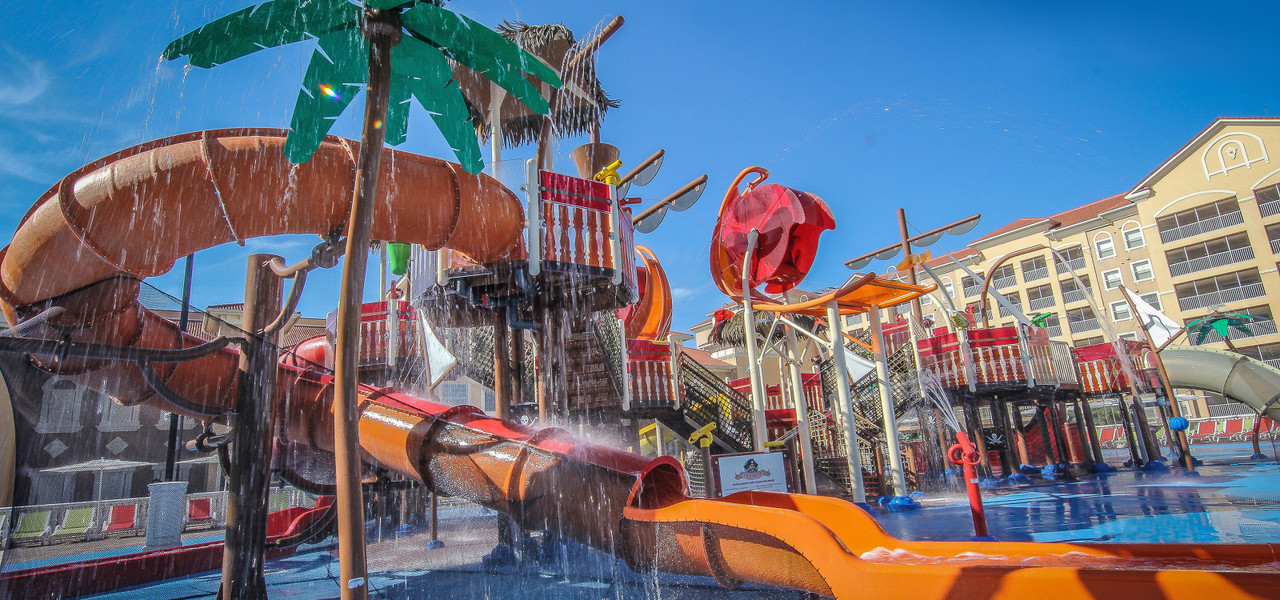 Slides at Ship Wreck Island Water Parks at our Orlando Water Park Hotel | Westgate Towers Resort | Westgate Water Park Hotels