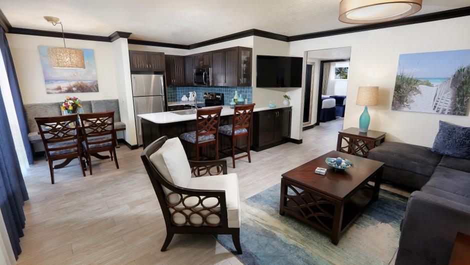 Living Area in Luxury Two Bedroom Suite| Westgate Cocoa Beach Resort | Westgate Resorts