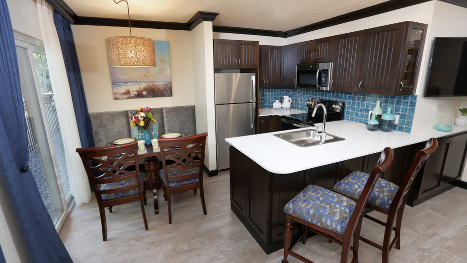 Kitchen in Luxury Two Bedroom Suite| Westgate Cocoa Beach Resort | Westgate Resorts