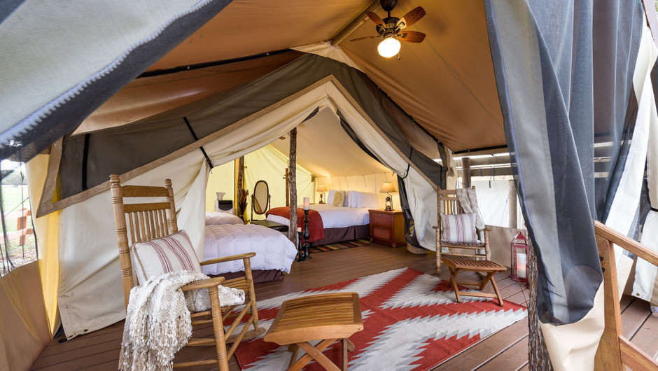 Inside the Glamping Tent -  Westgate River Ranch Resort & Rodeo