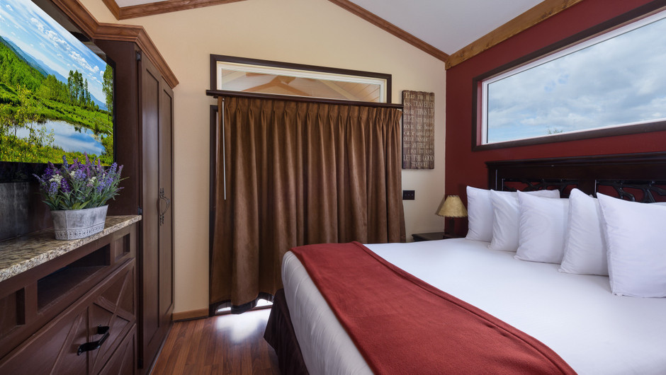 Bed in Saddle Club Rail Car Room    Westgate River Ranch Resort & Rodeo   Westgate Resorts
