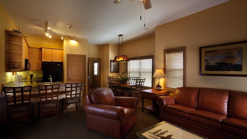 Furnishings in Saddle Club One-Bedroom Grand Cabin    Westgate River Ranch Resort & Rodeo   Westgate Resorts