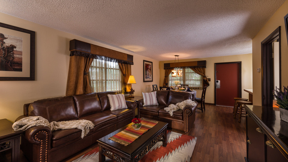 Relaxing Area in Lodge One-Bedroom Cottage |  Westgate River Ranch Resort & Rodeo | Westgate Resorts