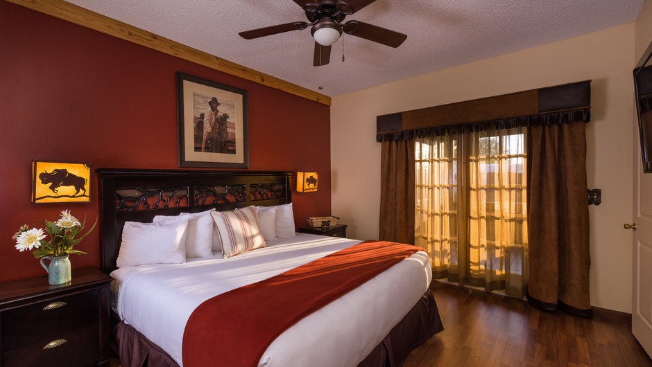 Bed in  Lodge One-Bedroom Cottage |  Westgate River Ranch Resort & Rodeo | Westgate Resorts