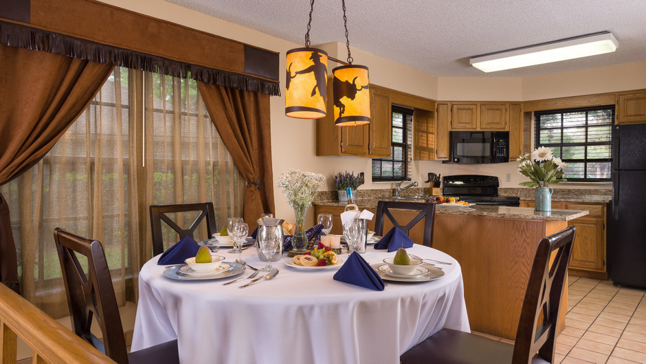 Dining Table in Lodge Two-Bedroom Cottage    Westgate River Ranch Resort & Rodeo   Westgate Resorts