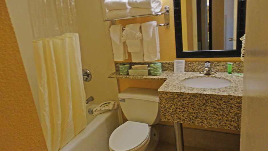 Bathroom in our Double Queen Guestroom | Westgate Myrtle Beach Resort