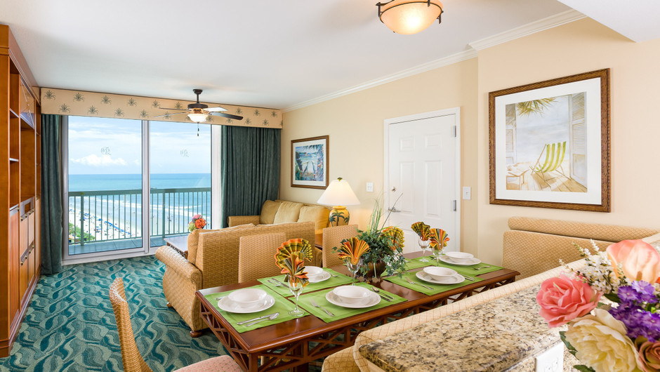 One-Bedroom Deluxe Ocean View Villa | Westgate Myrtle Beach Oceanfront Resort | Westgate Resorts & Condos in Myrtle Beach