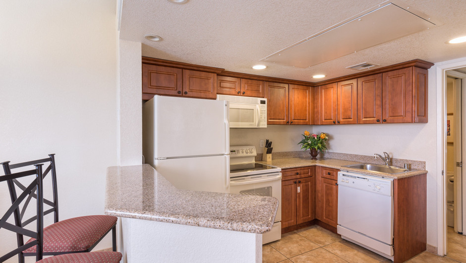 Kitchen | One-Bedroom Villa | Westgate Flamingo Bay Resort | Westgate Resorts in Las Vegas NV