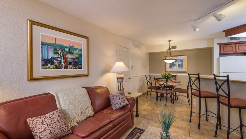 One Bedroom Deluxe Villa at our Flamingo Las Vegas hotel | Westgate Flamingo Bay Resort | Westgate Resorts in Las Vegas NV