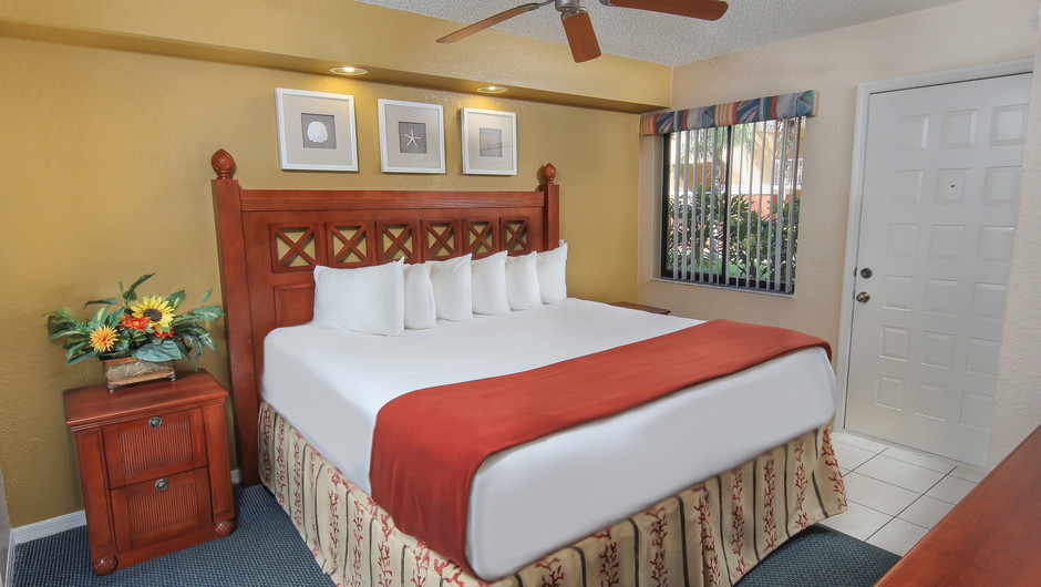 King bed in 2 bedroom suite in Orlando, FL | Westgate Vacation Villas Resort & Spa | Orlando, FL | Westgate Resorts