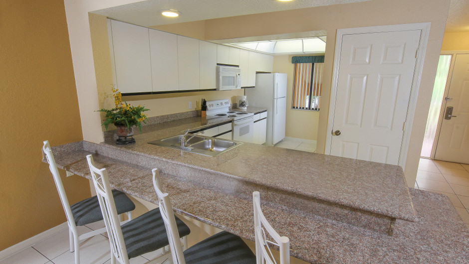 Two-Bedroom Deluxe Villa Kitchen Area | Westgate Vacation Villas Resort & Spa | Orlando, FL | Westgate Resorts