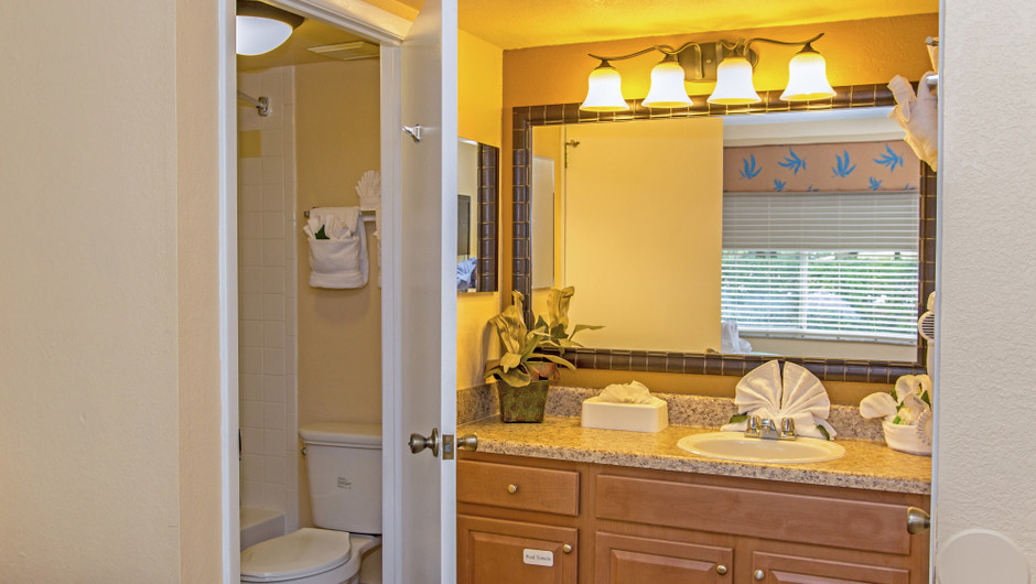 Bathroom in 2-Bedroom Villa at one of our leisure resorts near Seaworld Orlando FL | Westgate Leisure Resort | Westgate Resorts