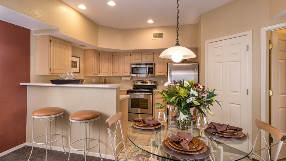 Kitchen in One-Bedroom Villas at Painted Mountain golf resort Mesa AZ | Westgate Painted Mountain Golf Resort | Westgate Resorts