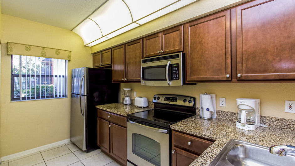 Kitchen at Three-Bedroom Villa in Orlando, FL | Westgate Lakes Resort & Spa | Westgate Resorts