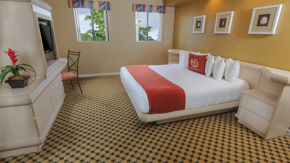Bed in One-Bedroom Villa at our hotel villas in Orlando Florida | Westgate Towers Resort | Westgate Resorts