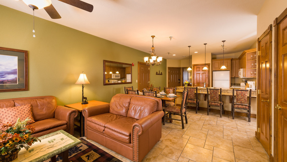 5 Bedroom Suites at Our Gatlinburg Resort near the Smoky Mountains | Spacious Living Room
