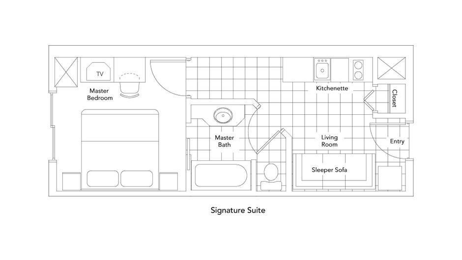 Signature Suite Floorplan at our Park City Resort in Utah | Westgate Park City Resort & Spa | Westgate Resorts