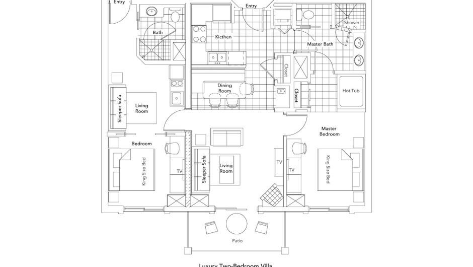 Luxury Two-Bedroom Villa Floorplan - Park City Resort in Utah | Westgate Park City Resort & Spa | Westgate Resorts