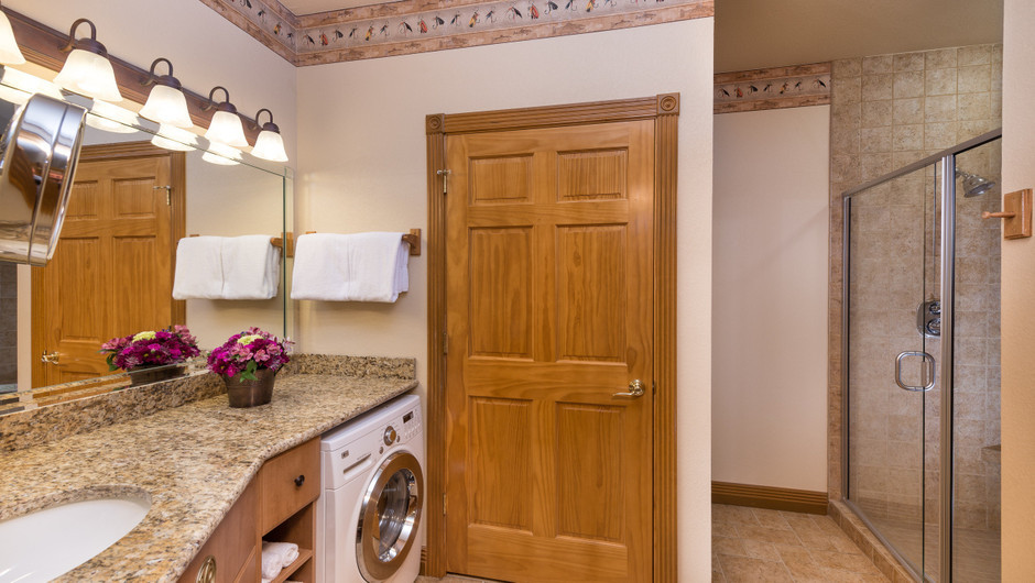 Bathroom in One-Bedroom Villa at our Branson Villas | Westgate Branson Woods Resort | Westgate Resorts