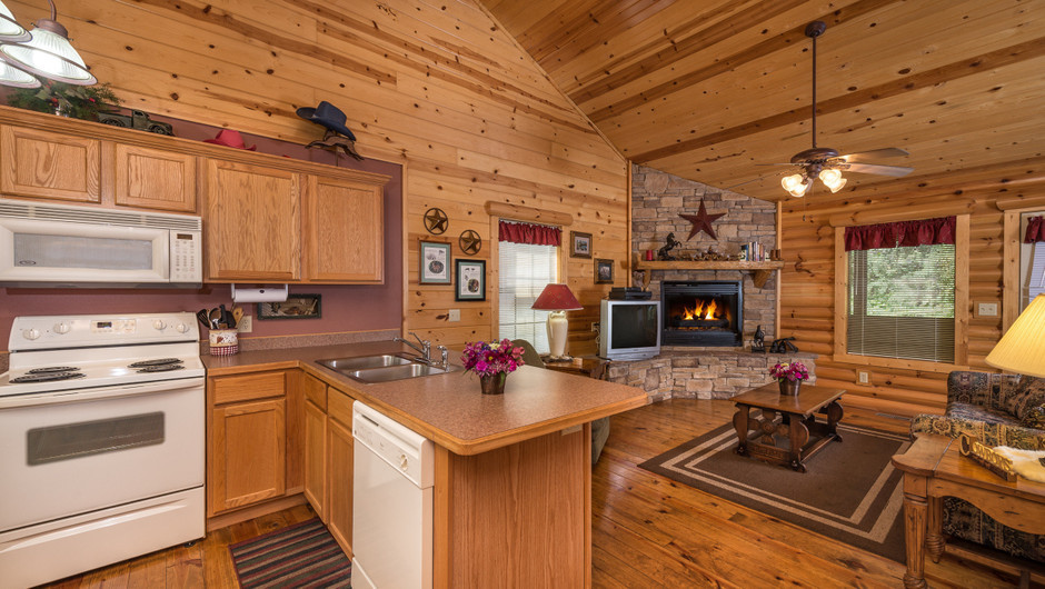 Kitchen in Two-Bedroom Branson MO Cabins | Westgate Branson Woods Resort | Westgate Resorts
