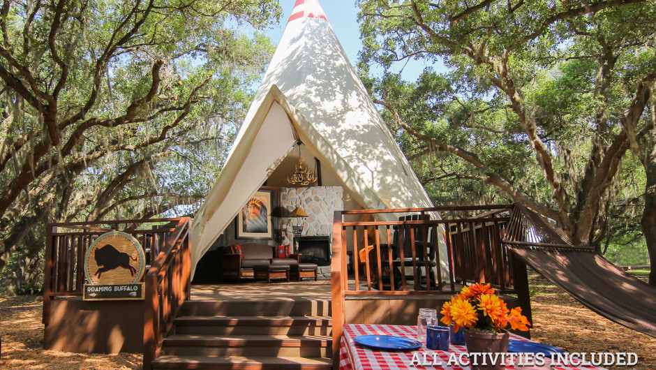 View Inside Luxe Teepees    Westgate River Ranch Resort & Rodeo   Westgate Resorts