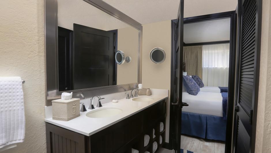 Bathroom in Luxury Two Bedroom Suite| Westgate Cocoa Beach Resort | Westgate Resorts