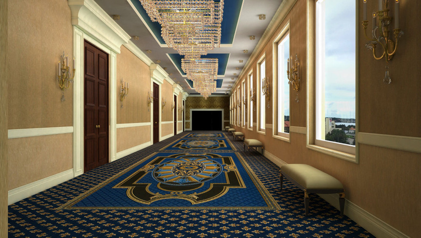 Hallway in our flexible function space near turkey lake road | Group venues for Orlando meeting planners | Westgate Lakes Resort & Spa