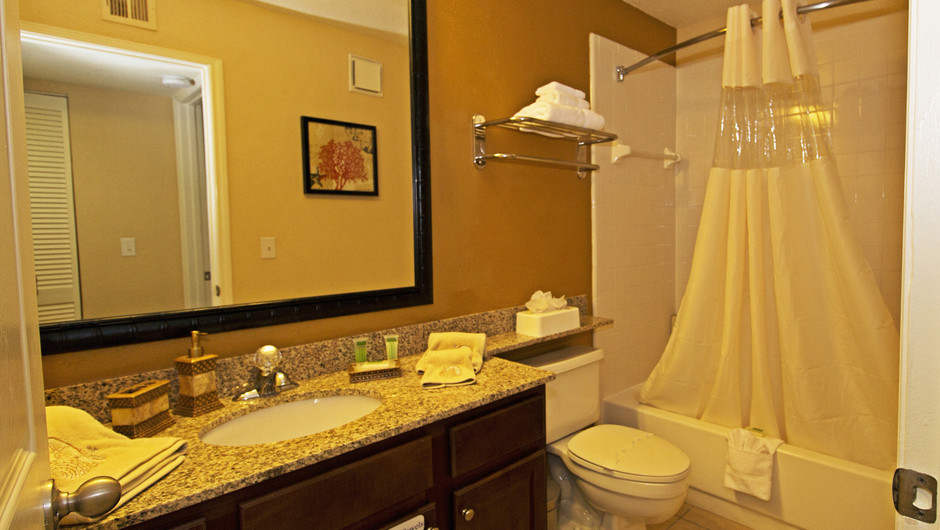 Bathroom in our Two Bedroom Deluxe Villas | Westgate Blue Tree Resort | Westgate Resorts Orlando