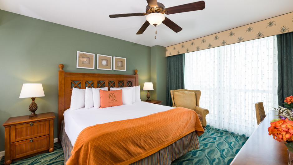 Bed in Two-Bedroom Ocean View Villa | Westgate Myrtle Beach Oceanfront Resort | Westgate Resorts