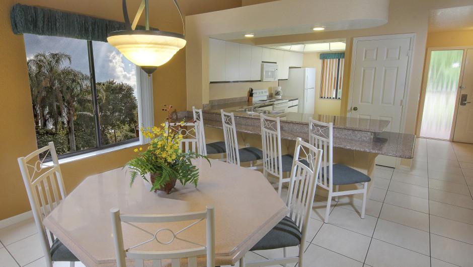 Two-Bedroom Villa with Loft Dining and Kitchen Area   Westgate Vacation Villas Resort & Spa   Orlando, FL   Westgate Resorts