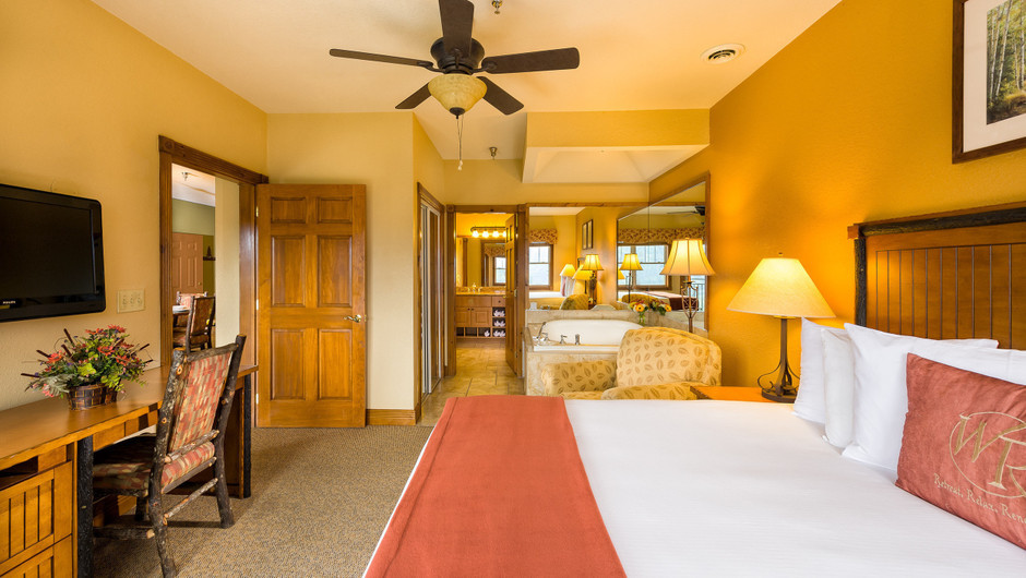 5 Bedroom Suites at Our Gatlinburg Resort near the Smoky Mountains | Spacious Bedroom