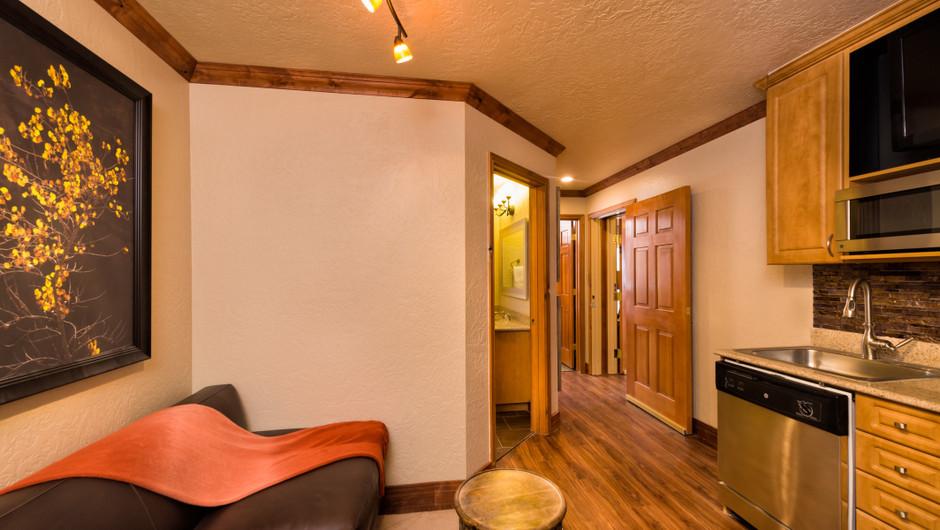 Signature Suite Living Area at our Park City Resort in Utah | Westgate Park City Resort & Spa | Westgate Resorts