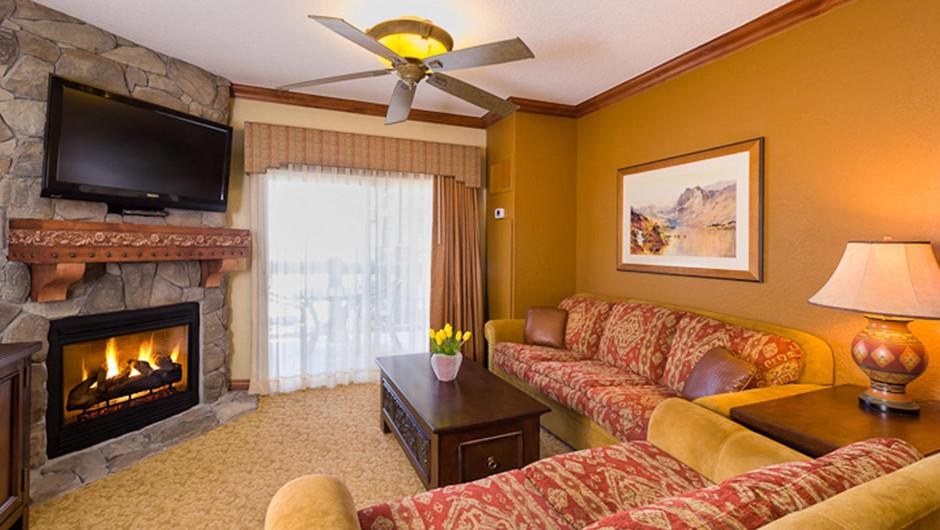 Luxury One-Bedroom Villa Living Area at our Park City Resort in Utah | Westgate Park City Resort & Spa | Westgate Resorts