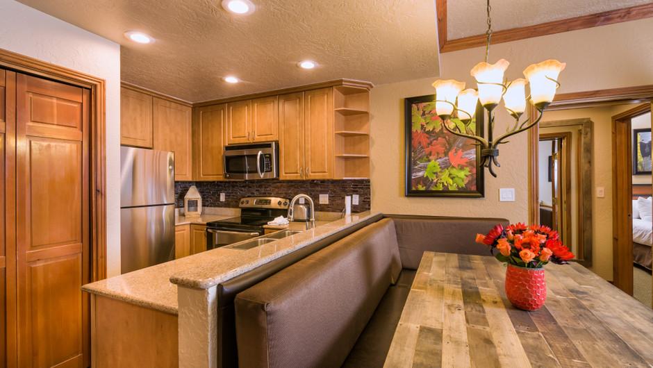 Signature One-Bedroom Villa Dining Area at our Park City Resort in Utah | Westgate Park City Resort & Spa | Westgate Resorts