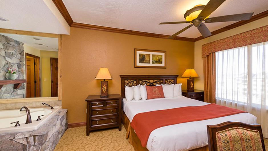 Bedroom in the Luxury Two-Bedroom Villa at our Park City Resort in Utah | Westgate Park City Resort & Spa | Westgate Resort
