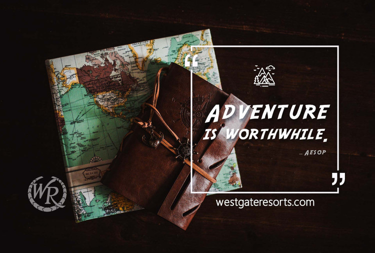 Adventure Is Worthwhile | Aesop | Motivational Travel Quotes