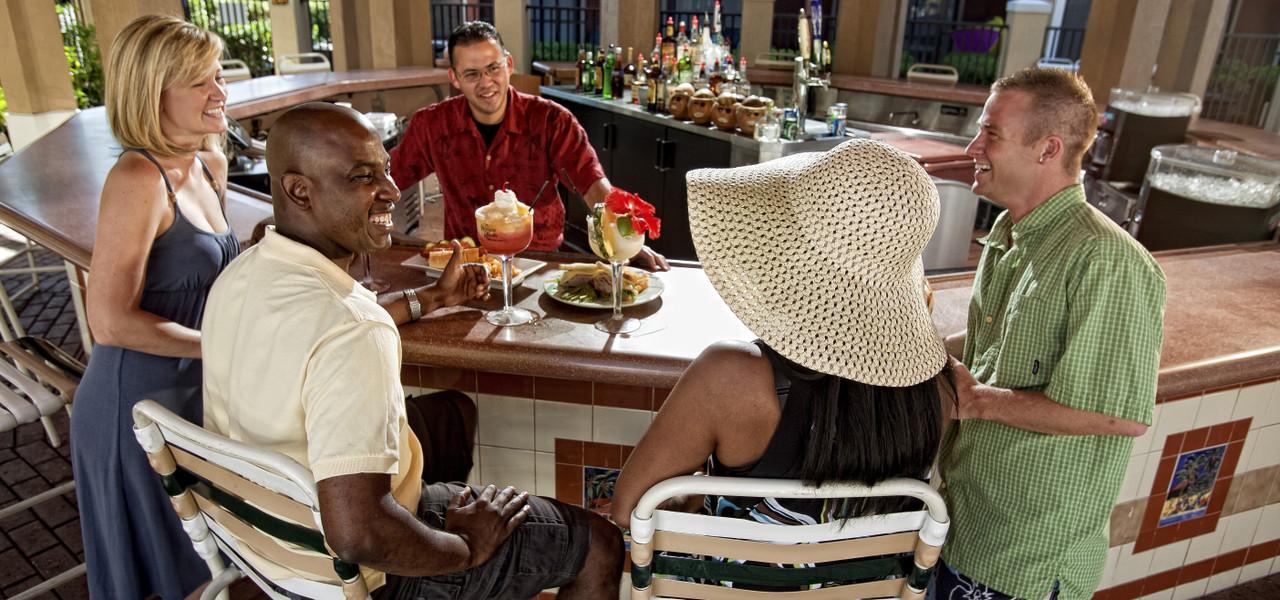 Couples at Poolside Bar | Westgate Lakes Resort & Spa | Orlando, FL | Westgate Resorts