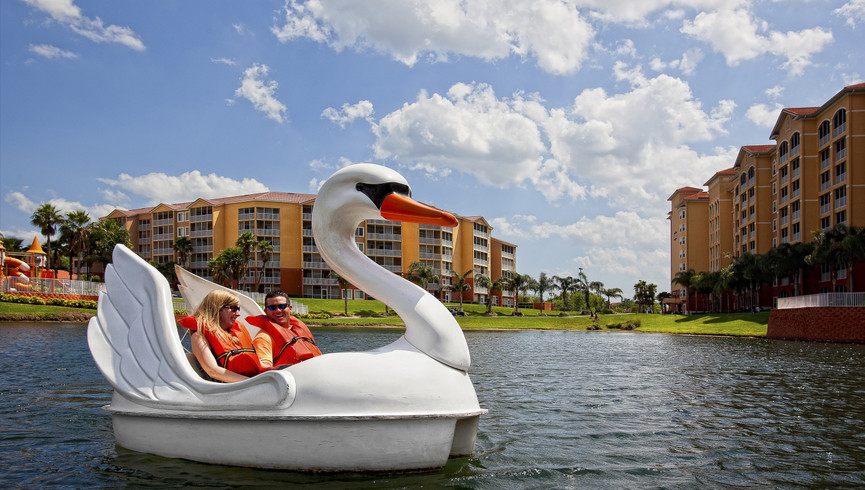 Orlando Swan Boat rental at one of our resorts in Kissimmee FL | Westgate Vacation Villas Resort & Spa | Westgate Resorts