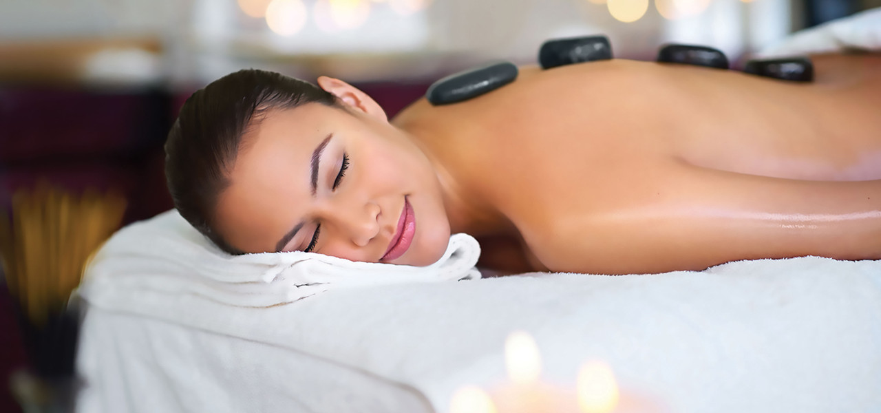 Hot stone massage at Serenity Spa at Westgate Resorts