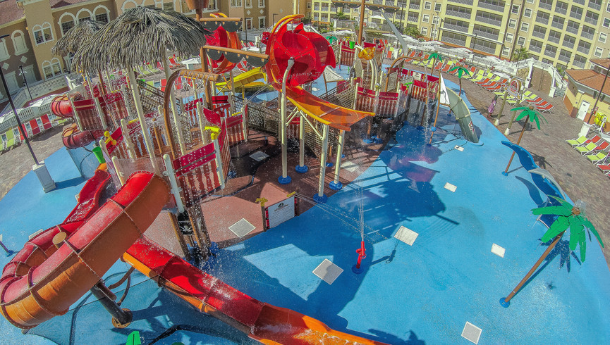 Slide at Ship Wreck Island Water Parks at our Orlando Water Park Hotel | Westgate Towers Resort | Westgate Water Park Hotels