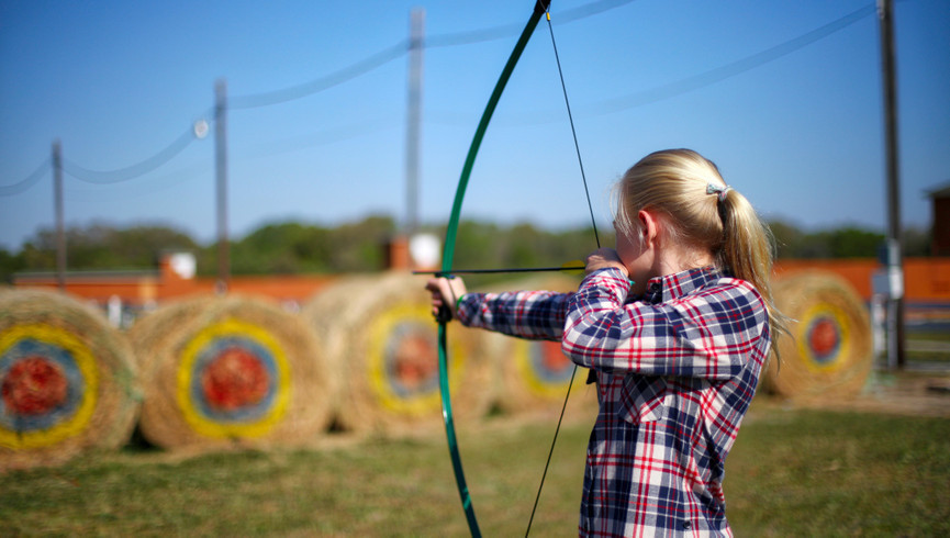 Dude Ranch in Florida | Girl Practicing Archery
