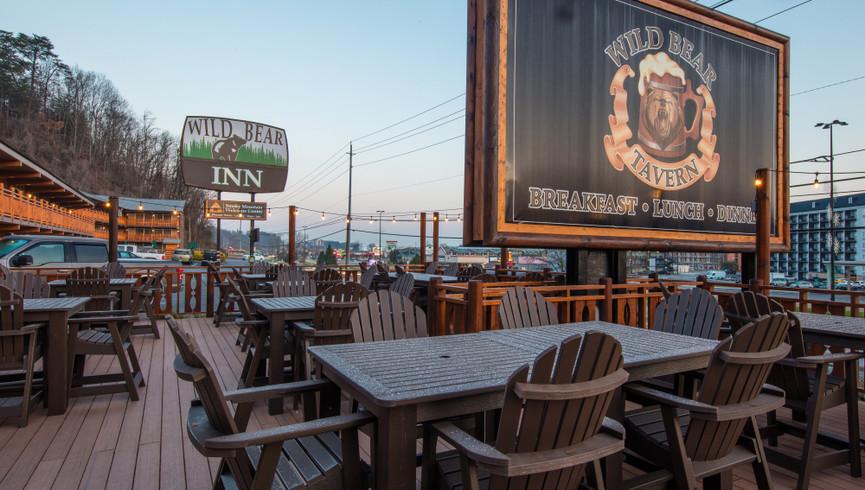 Patio seating at Wild Bear Tavern | Wild Bear Inn