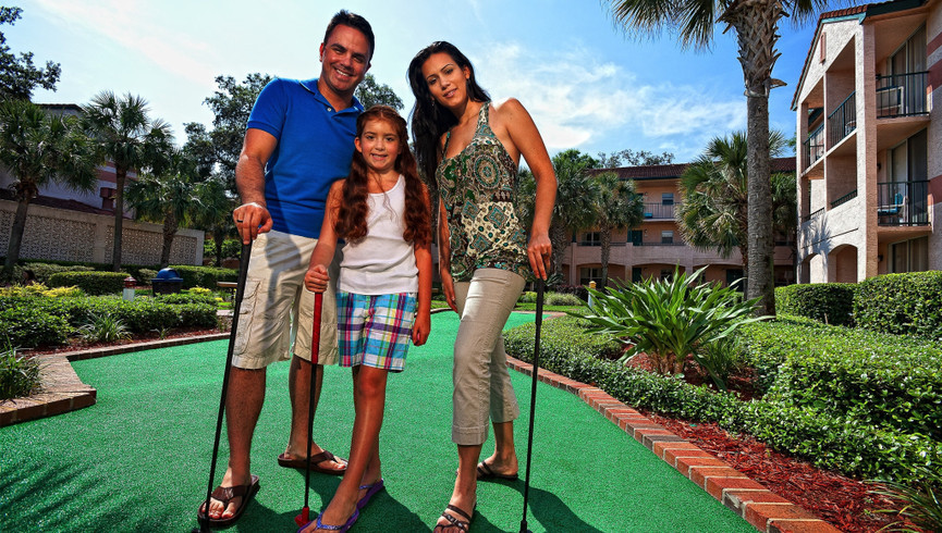 Mini Golf at our Lake Buena Vista Florida Resorts | Westgate Blue Tree Resort Lake Buena Vista | Resorts Near Sea World, Orlando, FL 32836