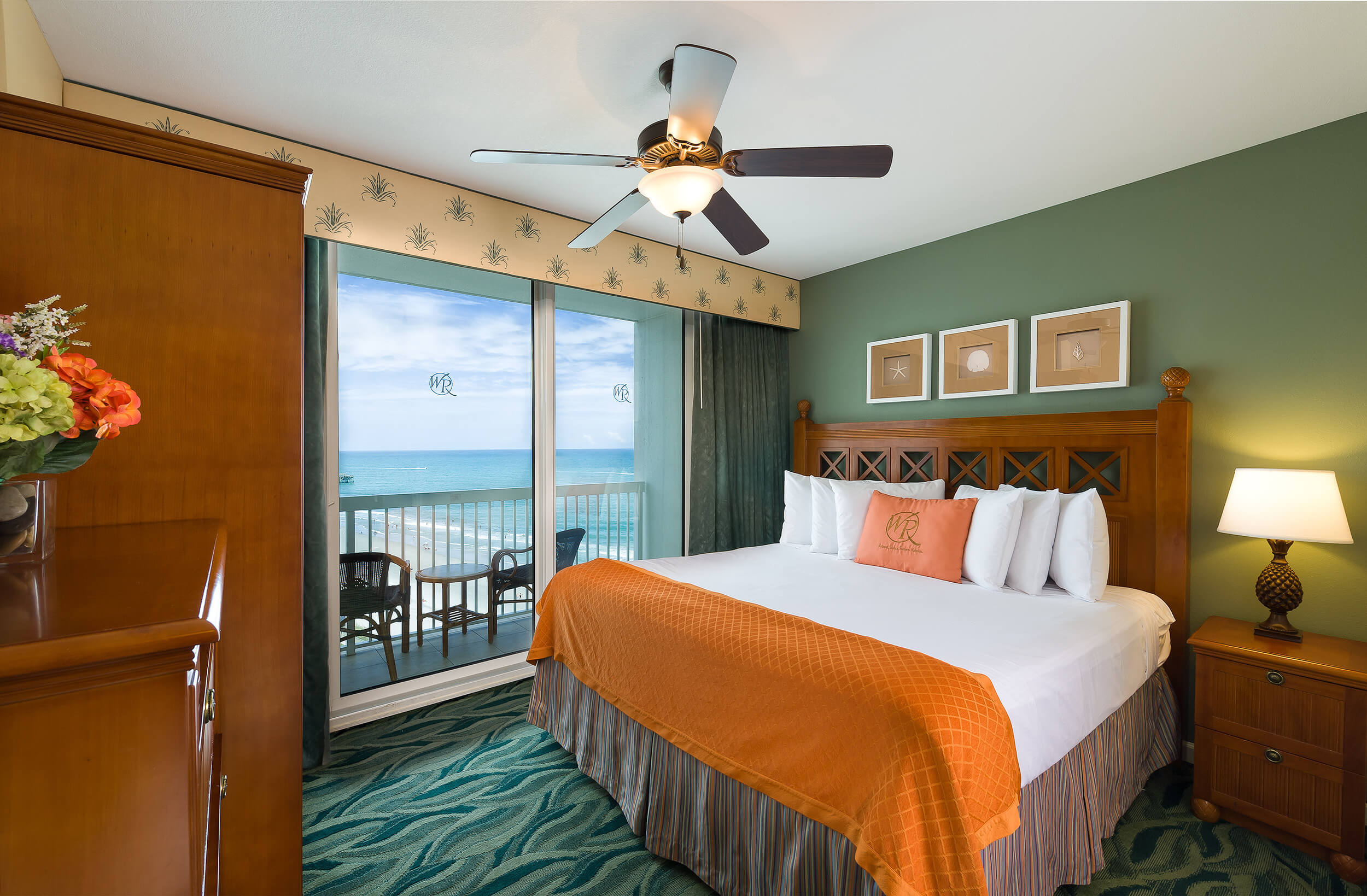 King Bed in One-Bedroom Ocean View Villa | Westgate Myrtle Beach Oceanfront Resort