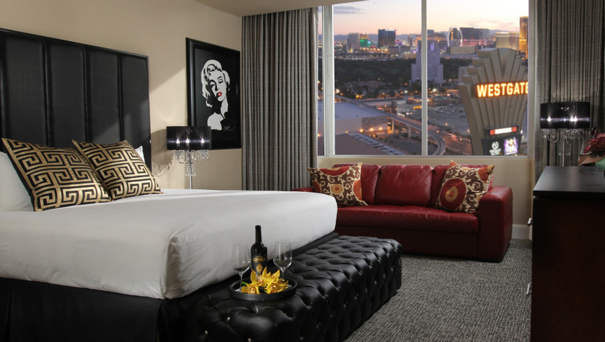 The sophisticated and spacious accommodations at Westgate Las Vegas Resort & Casino boast impressive amenities and a variety of room types.