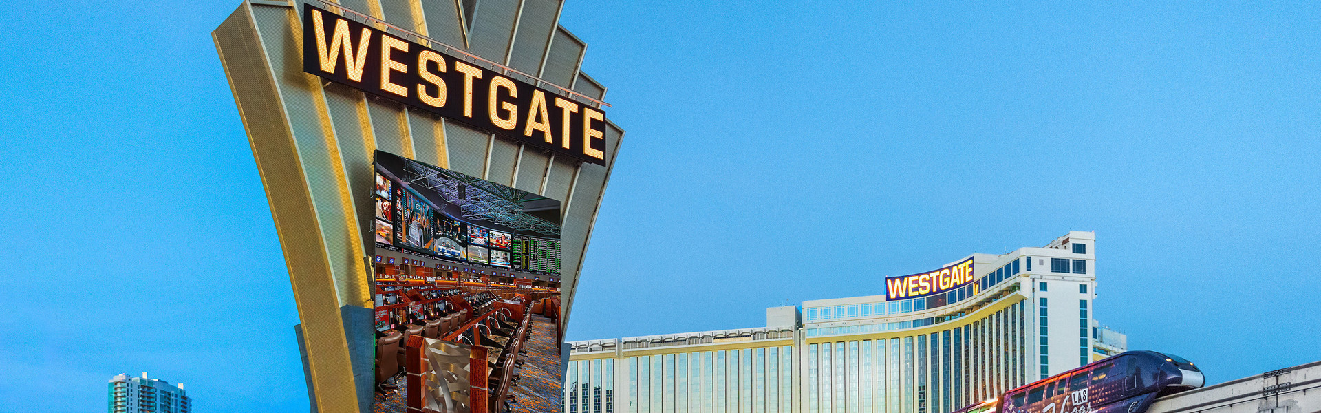 Las Vegas Monorail near our Las Vegas Hotel and Casino | Las Vegas Monorail at Westgate Las Vegas