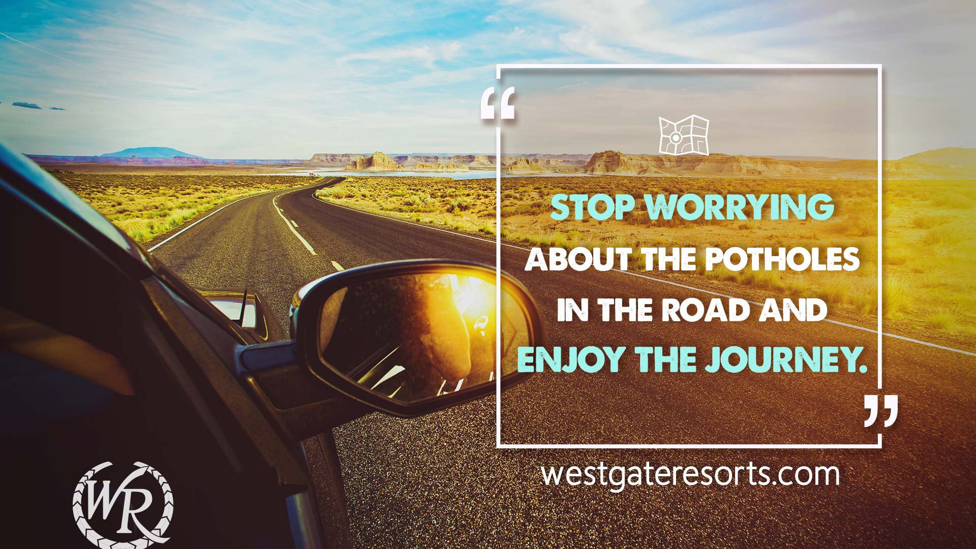 Stop Worrying About the Potholes in the Road and Enjoy the Journey | Babs Hoffman | Motivational Travel Quotes