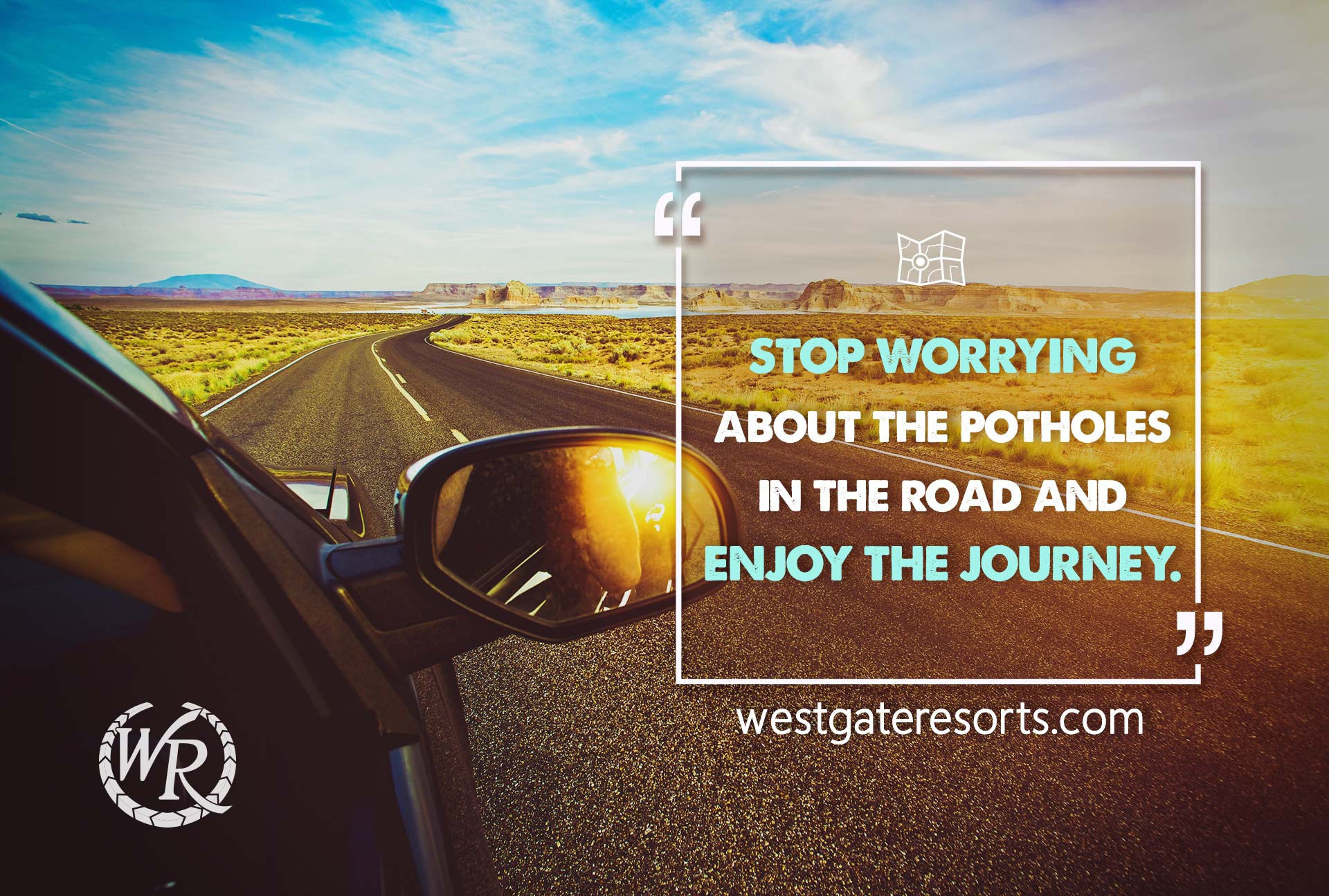 Stop worrying about the potholes in the road and enjoy the journey. | Travel Motivation Quotes | Inspiring Sayings