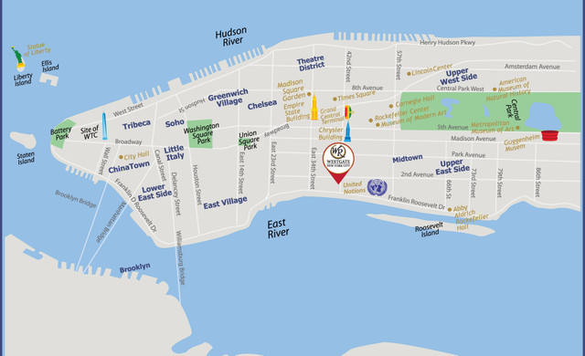 Map of NYC Near Grand Central | Westgate New York Grand Central Hotel | New York Hotels With Maps