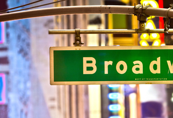 Broadway Street Sign Midtown NYC